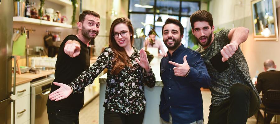 Team of La Vaca Coworking in Poble Sec neighboorhod of Barcelona