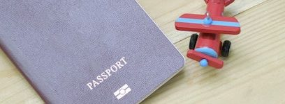Passport and plane