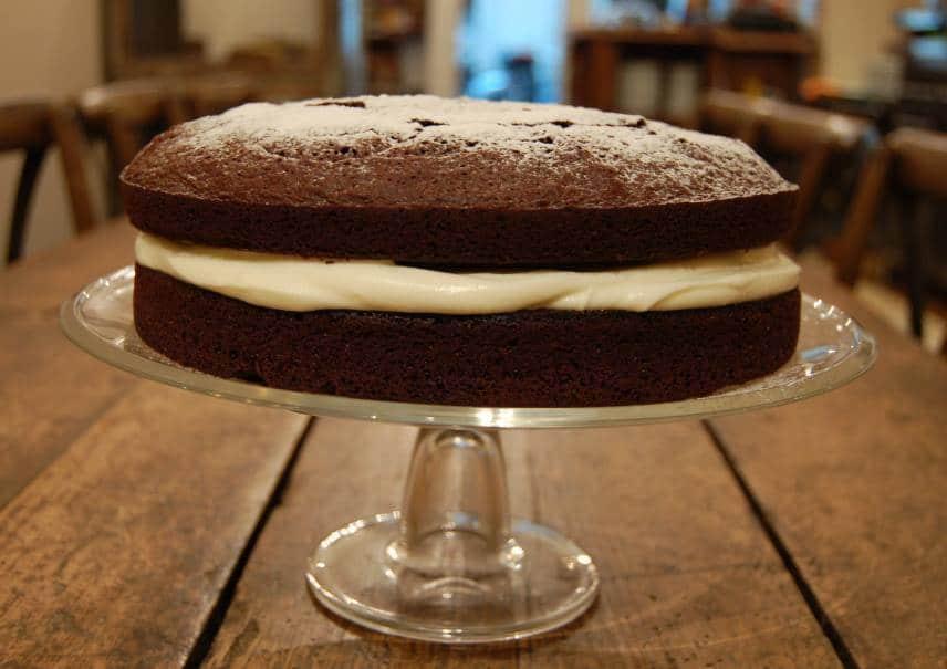 Entire cake from spice café poble sec